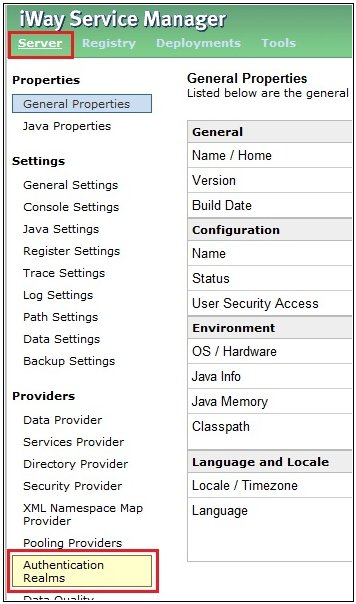 Creating an LDAP Authentication Realm