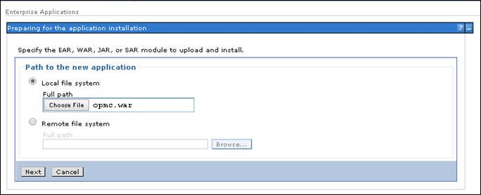 Installing and Deploying the OPMC Application