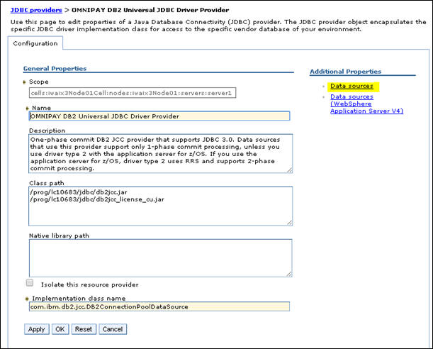 Configuring JDBC Providers